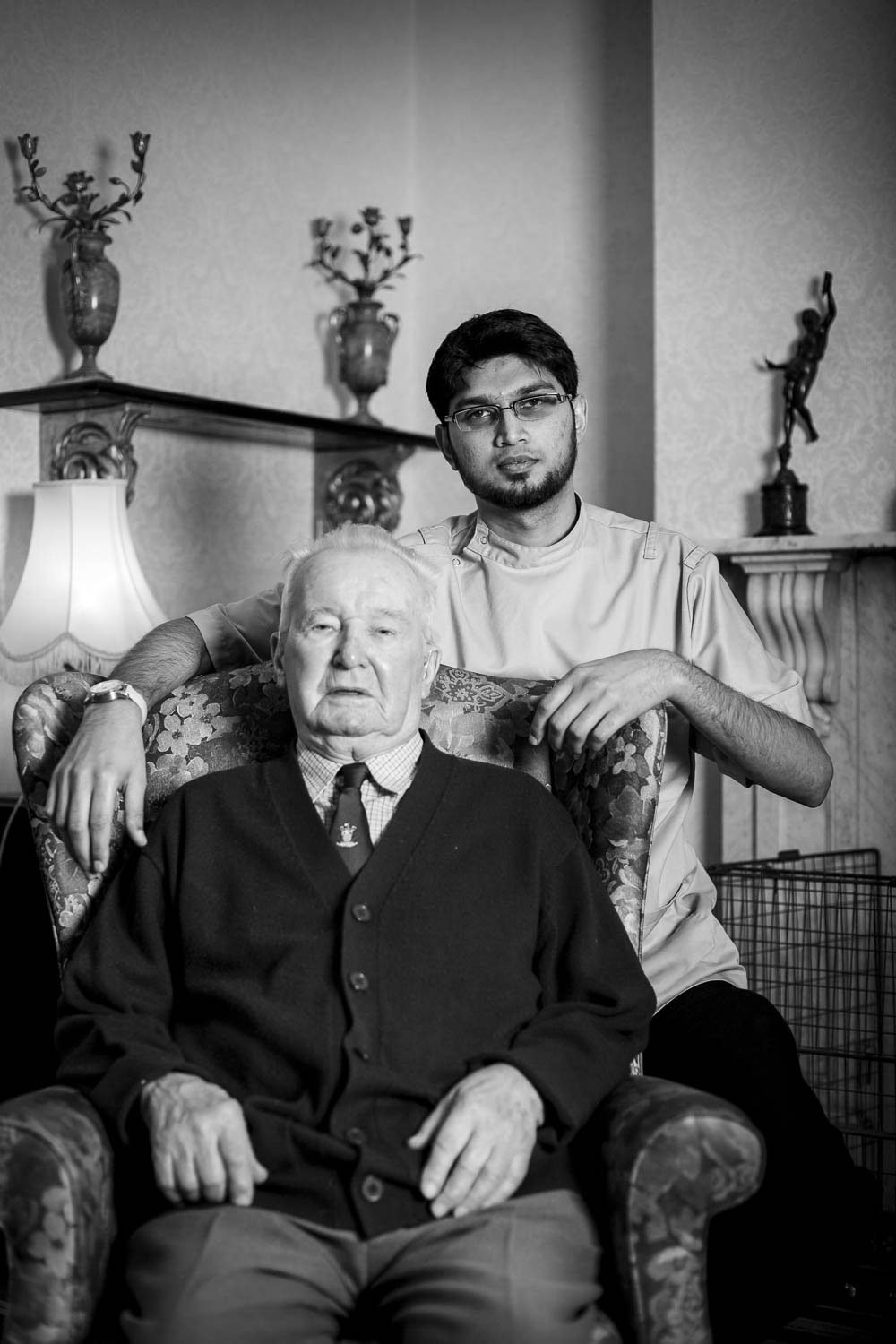 Migrant Worker with resident of care home