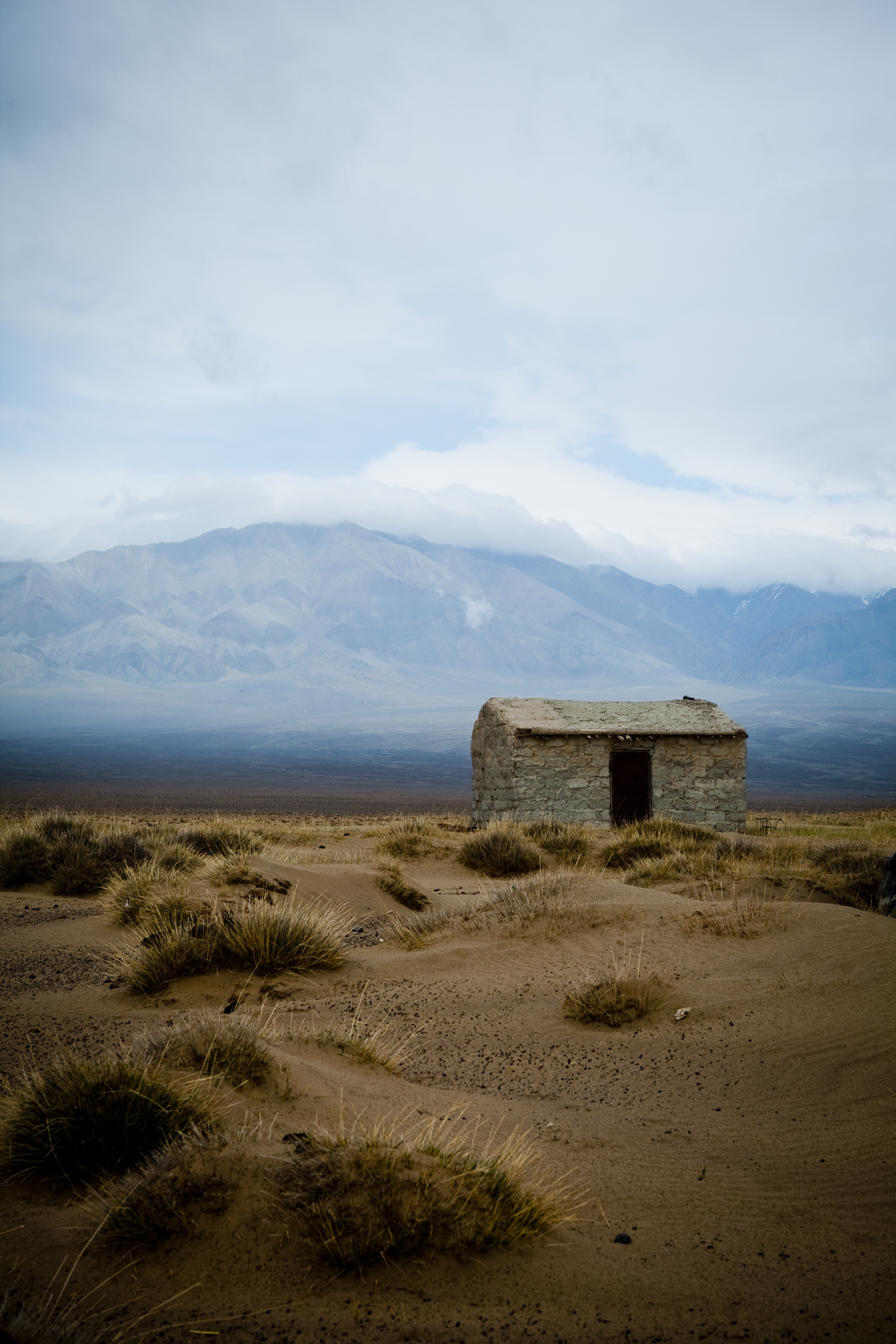 A house in the steppes of Mongolia