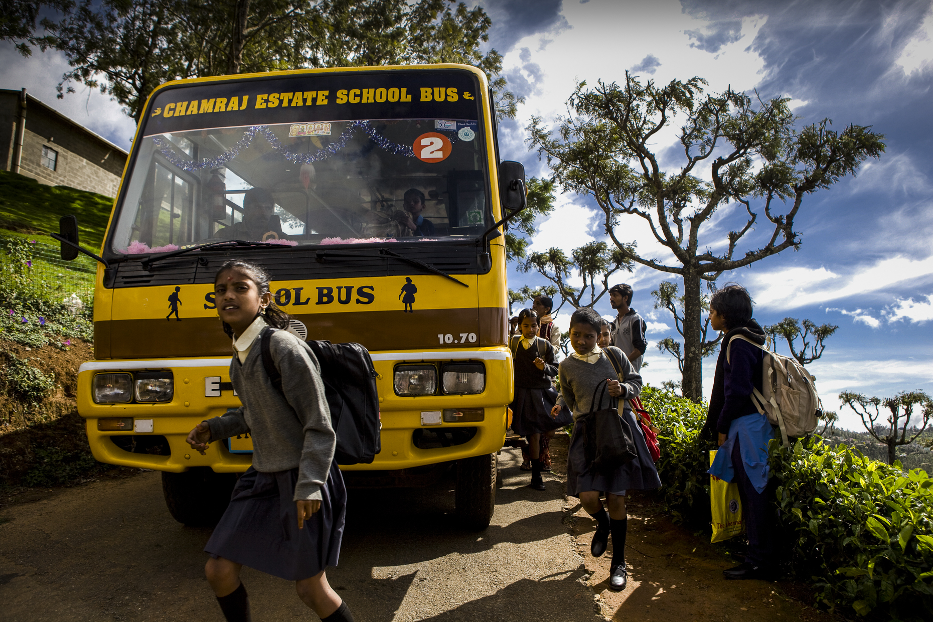 A bus paid for by Fairtrade profits
