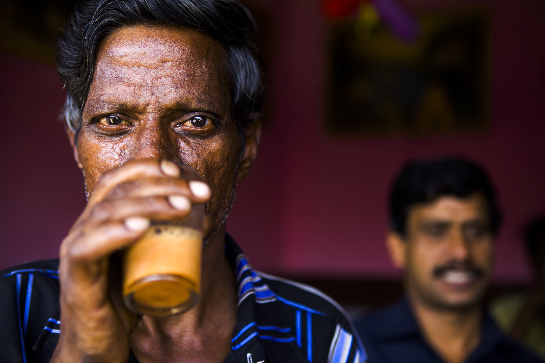 Man in tea shop, Coonoor, India