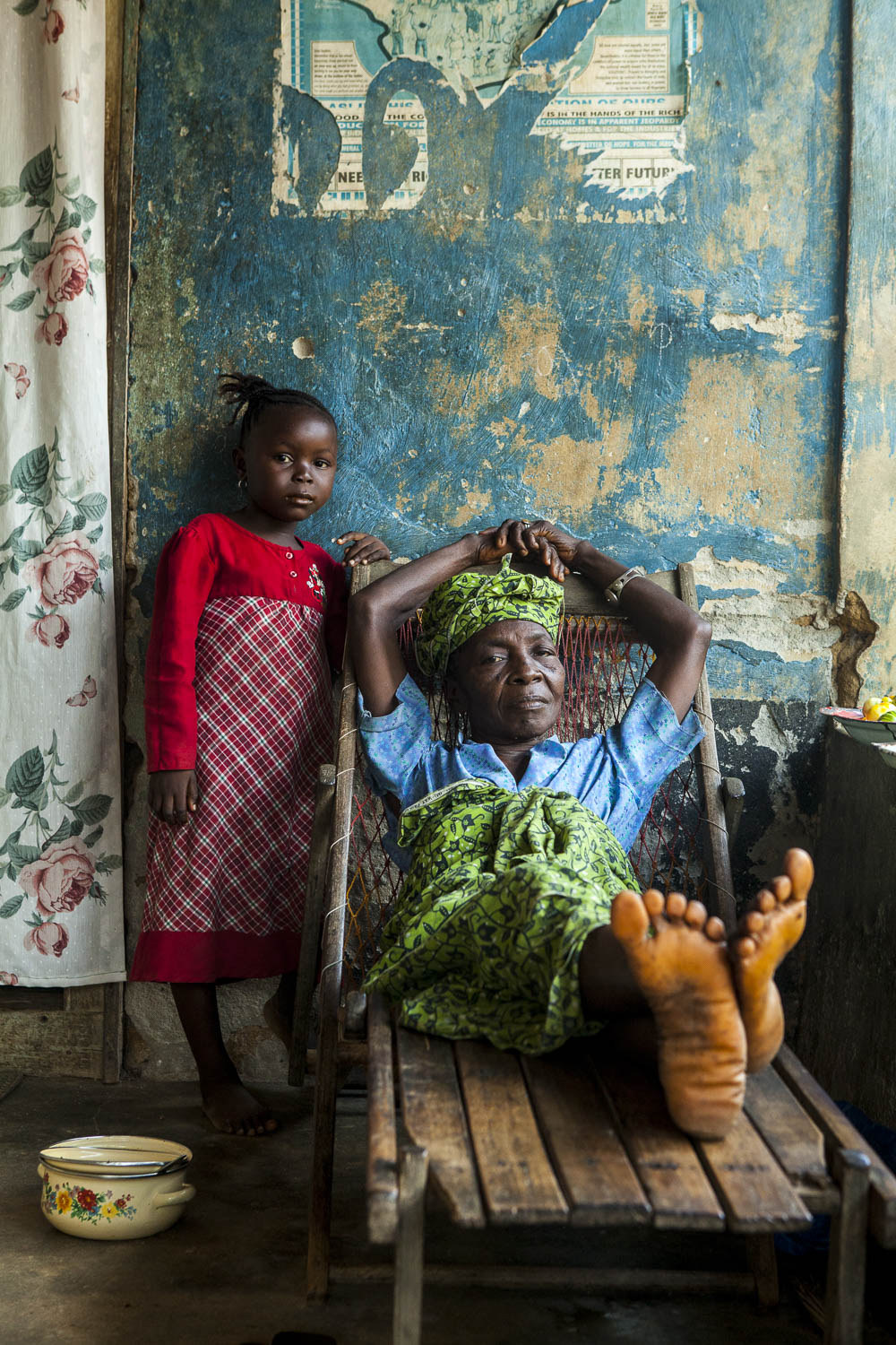 Child and grand-mother, Sierra Leone