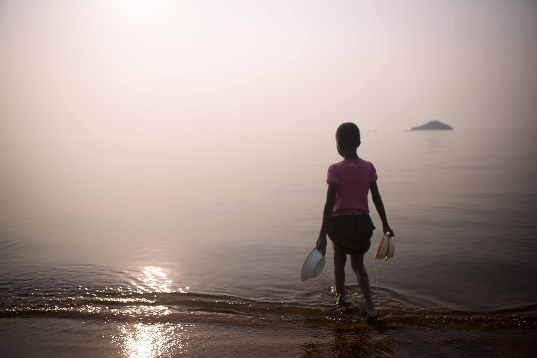 A child at Lake Malawi