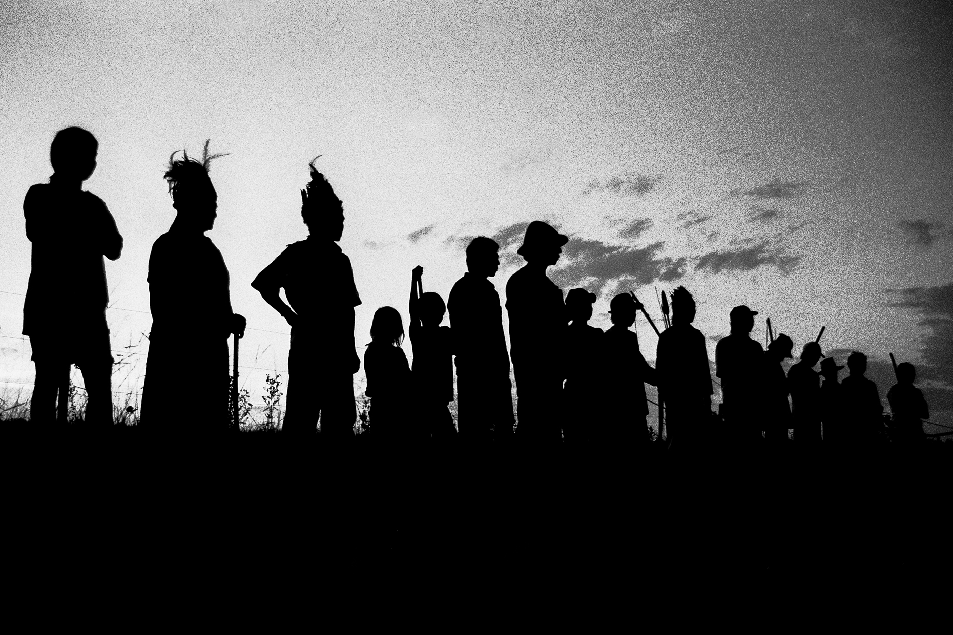 Members of the Guarani-Kaiowa tribe prepare to re-occupy their land